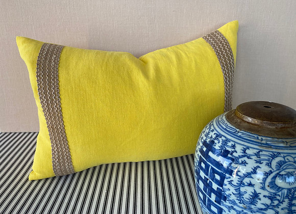 Designers Guild Linen cushion with Trim