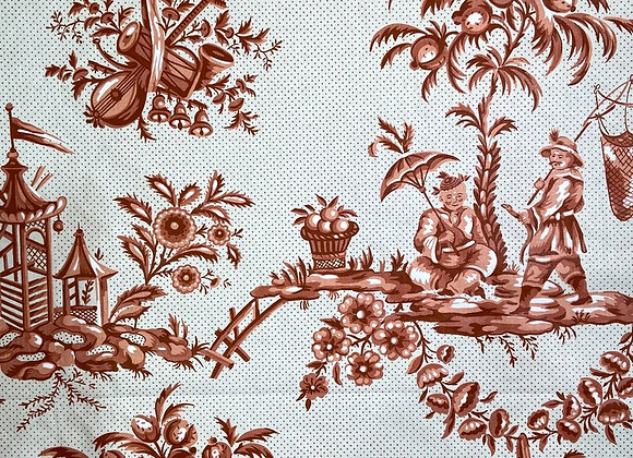 Bailey & Griffin - Asian Toile Red 2