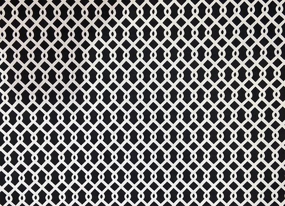 Waverly - Black & White Trellis