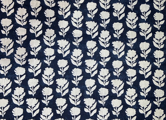 Anna Spiro Textiles -  Marigold Solid - Navy