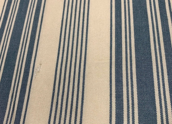 Vintage French Cotton - blue and off white