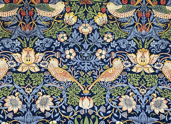 William Morris -  Strawberry Thief - Indigo
