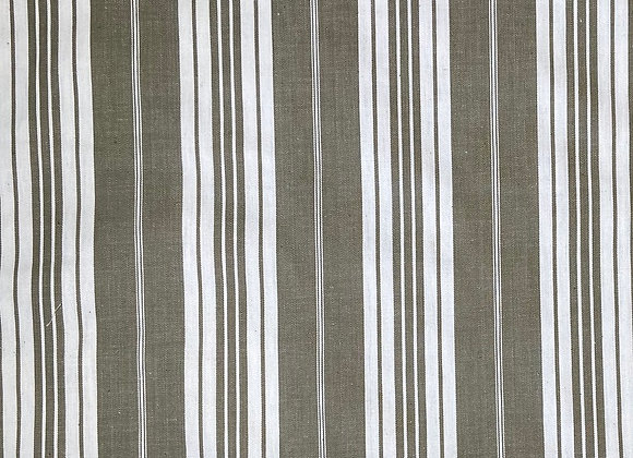 Woven French Stripe - Beige and white