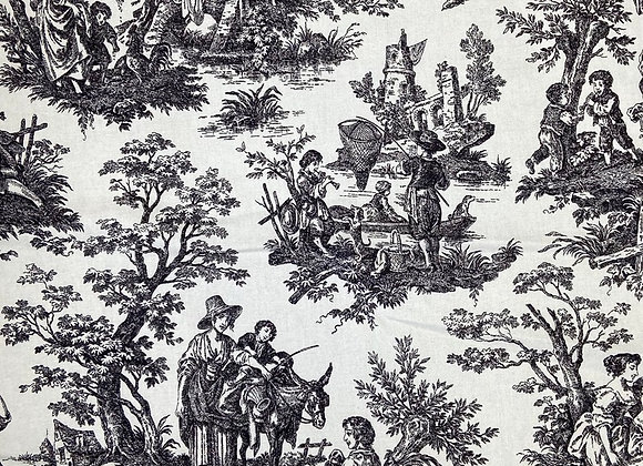 Country Life Toile - Black & White