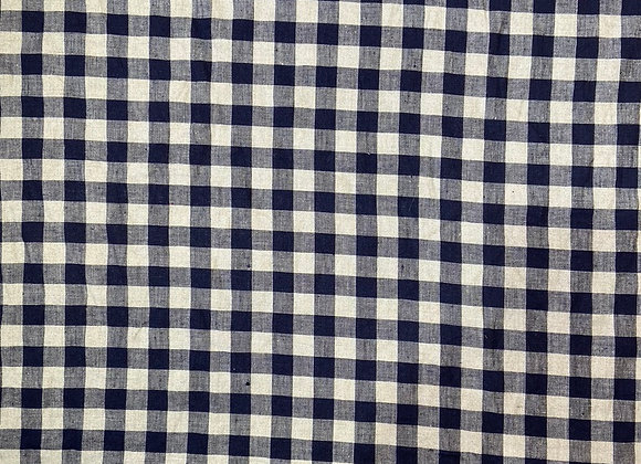 Linen - French Navy Check
