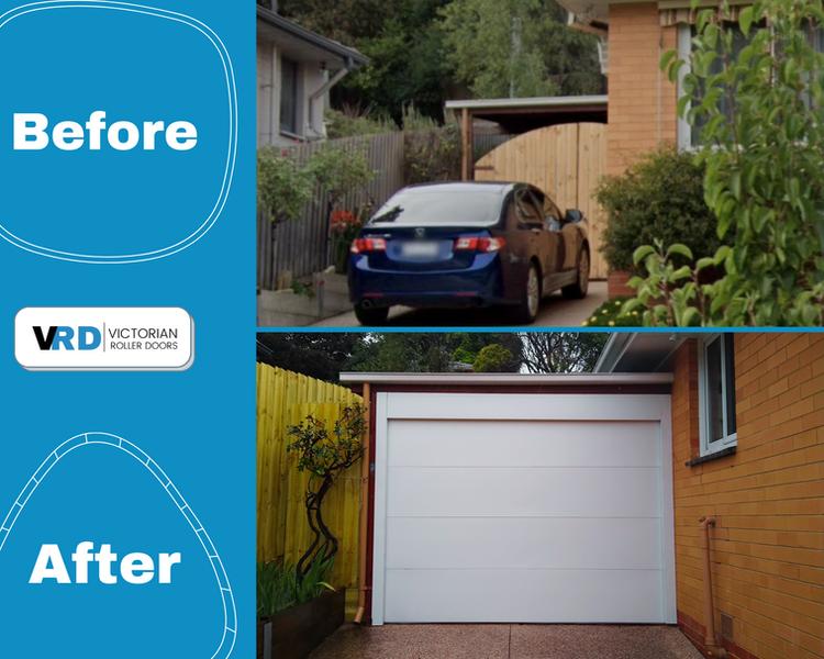Carport Conversion - Garage Door on Carport