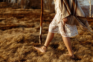 woman legs in native indian american boh