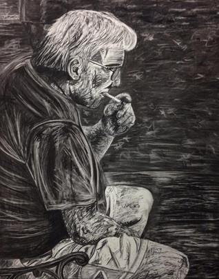 Dad smoking