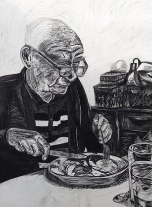 Grandad eating