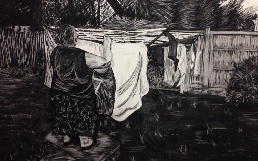 5 x 7 ft. Charcoal on fabriano. 2015