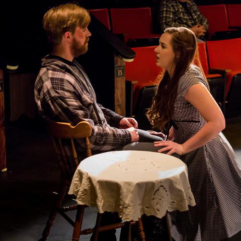 John Proctor - Sean Rethmeier Abigail Williams - Taryn Pruett  Photo by Sean Rethmeier Photography