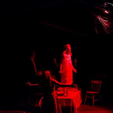 Abigail Williams - Taryn Pruett Betty Parris - Lynna Storm  Photo by Sean Rethmeier Photography
