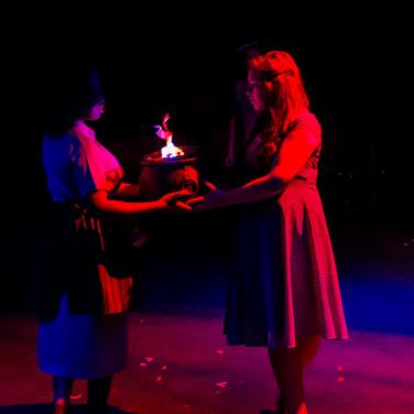 Tituba - Tinika Bright Abigail Williams- Taryn Pruett Betty Parris - Lynna Storm  Photo by Sean Rethmeier Photography