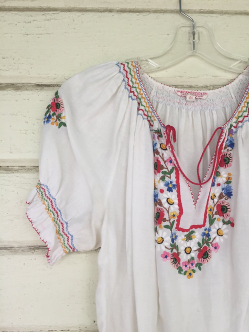 Hand embroidered Hungarian peasant blouse