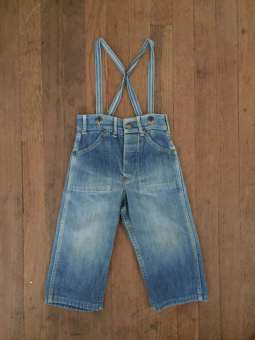 BIG MAC DENIM JEANS WITH SUSPENDERS