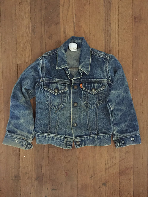 1970s LEVI'S ORANGE TAB DENIM KIDS JACKET