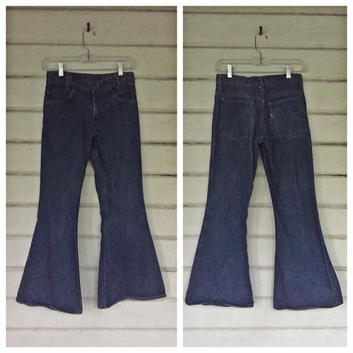 Levi's 70s orange tab bellbottom petite jeans