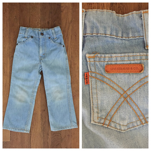 1970s LEVI'S FADED X POCKET BELL BOTTOM JEANS
