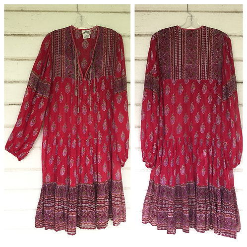 Adini rare red gauze dress