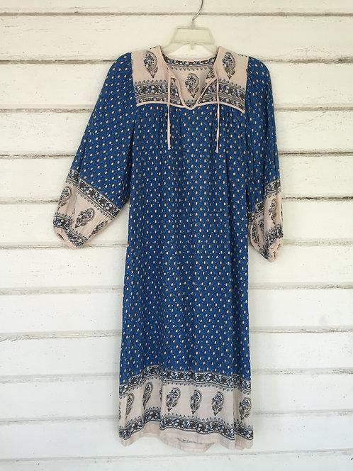 Woven cotton paisley INDIA dress