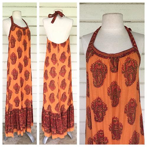 Tangerine dream India BATIK halter dress