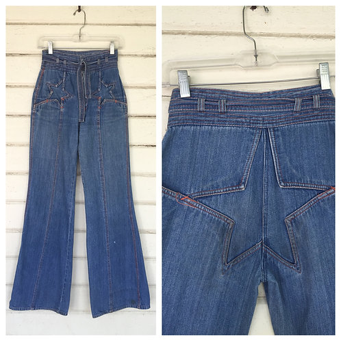 1970s STAR DENIM BELL BOTTOMS