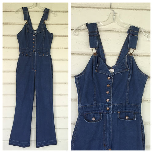 1970s denim BELLBOTTOM jumpsuit