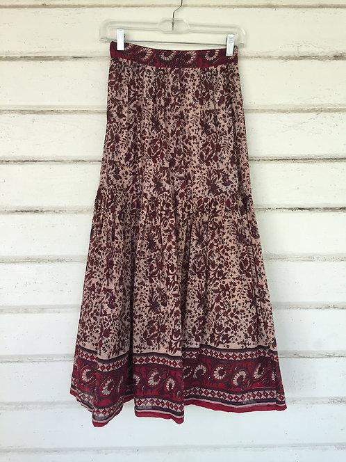 Gauze batik maxi skirt