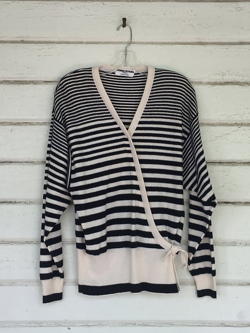 Sonia Rykiel striped Italian wool sweater