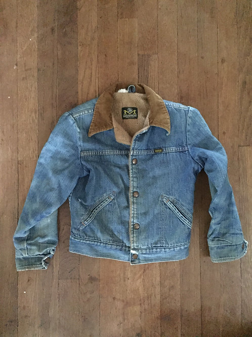 1960s MAVERICK BLUE BELL DENIM JACKET WITH SHEARLI