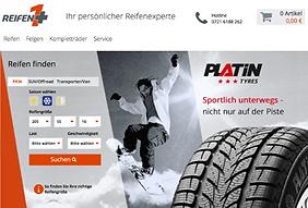 Screnshot der Partnerseite Reifen1+