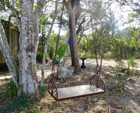 Swing time in the garden at Imani