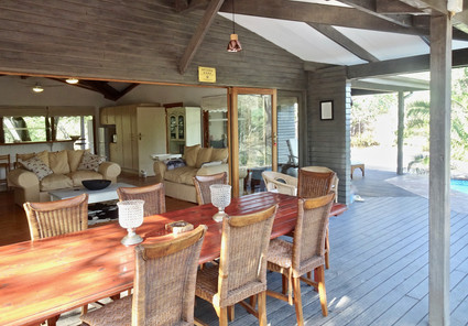Front deck at Imani House