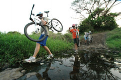 Off-roading by bike