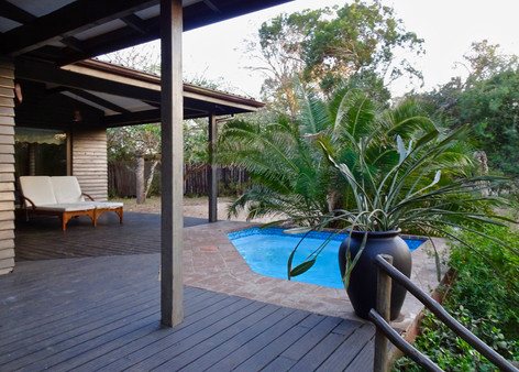 Plunge pool at Imani Bush House