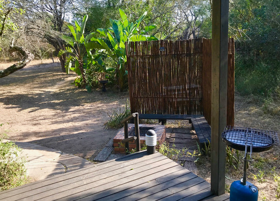 The braai spot at Silver Sky Chalet