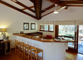 Kitchen bar at Imani with pool table