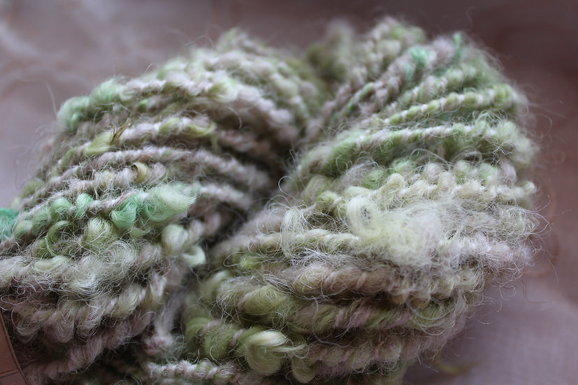 Leicester Long Wool, Coil Spun with Shetland