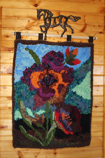 Abstract Floral - Rug