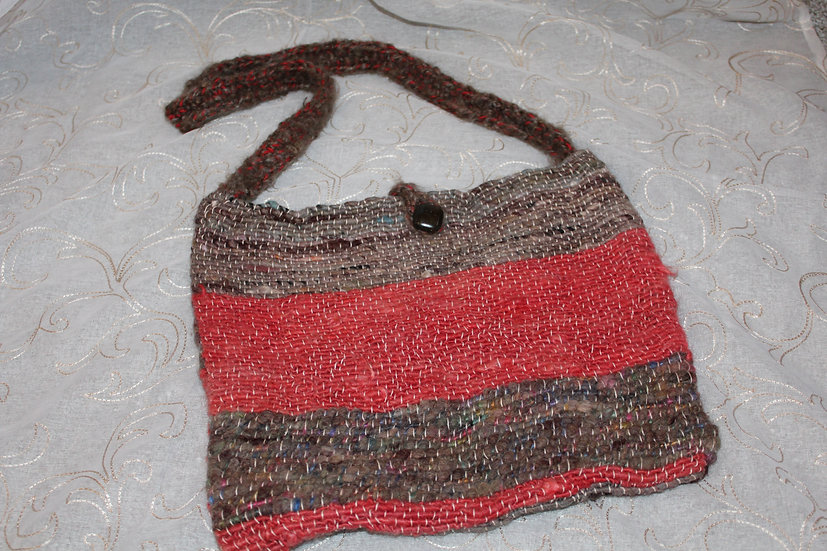 PRS08 - Mohair + Mixed Fibers Woven Purse