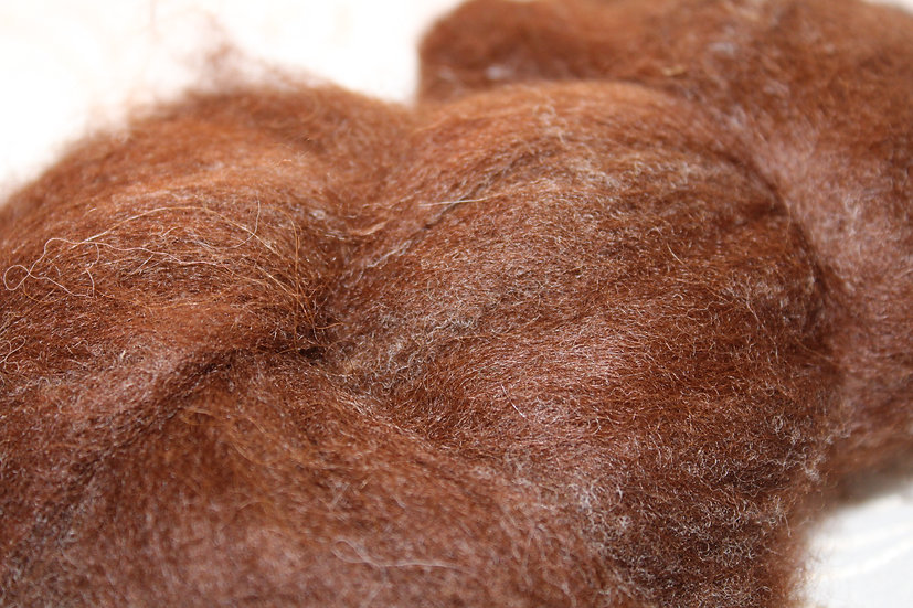 Suri Alpaca Natural Brown Roving
