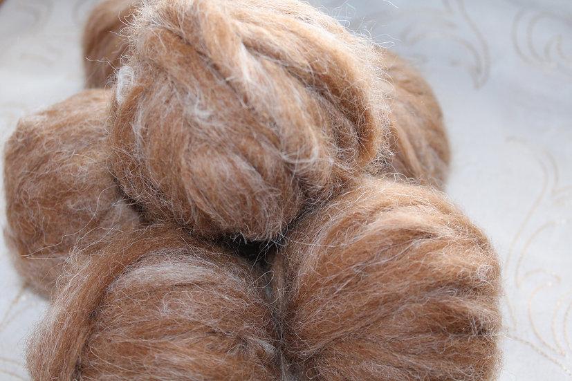 Natural Appaloosa Huacaya Alpaca Roving