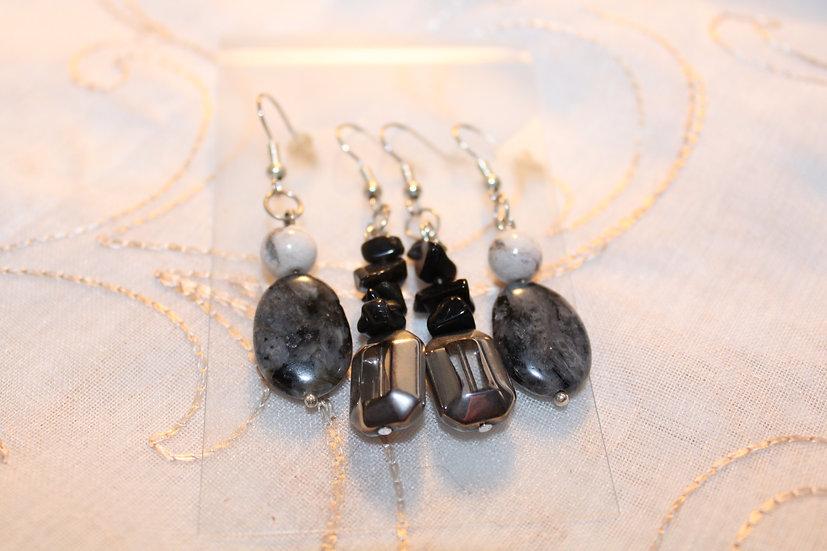 Labradorite / Obsidian