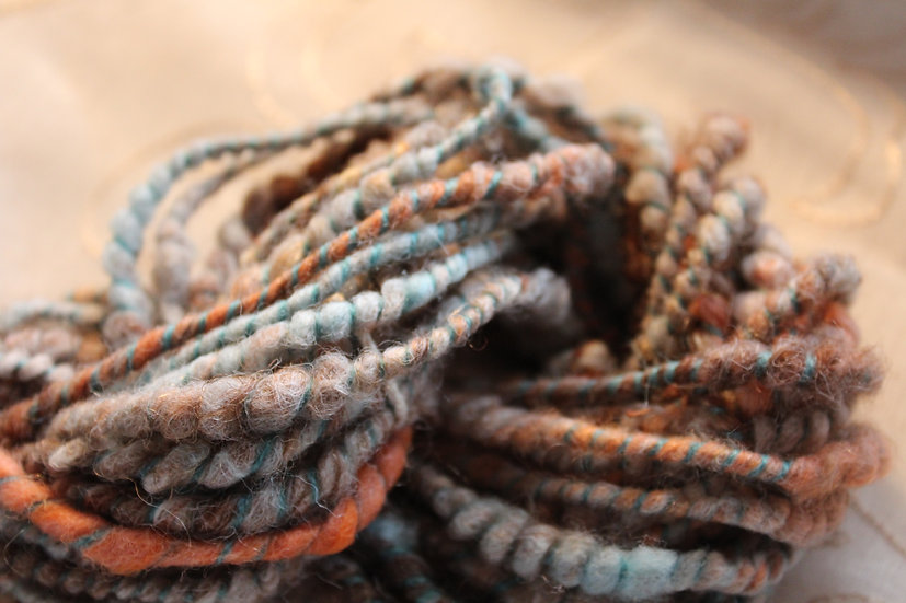 Mixed Fibers (wools), Coil Spun