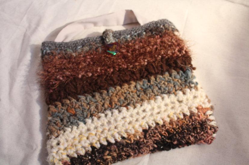 PRS28 - Mixed Fiber Crocheted Purse