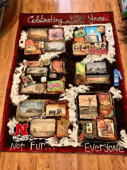 Nebraska ART Quilt - Not FUR Everyone!
