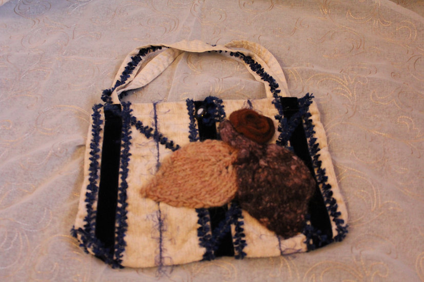 Hand Sewn Purse with Knit Details