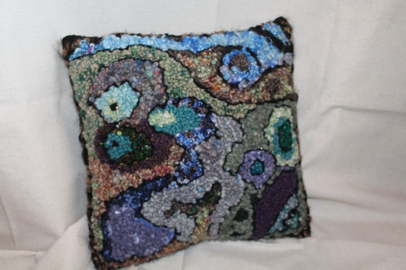 Rug Hooked Pillow
