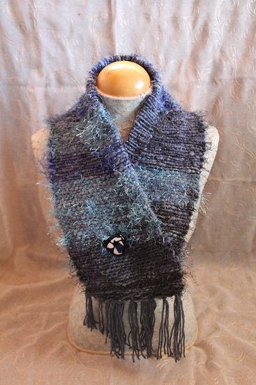 CWL09 - Leicester Long Wool + Shetland Fiber Cowl