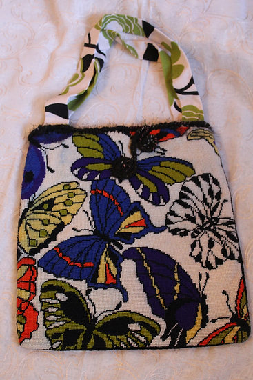 PRS05 - Cross-stitched Shetland Hand-Bag with Needle Felting